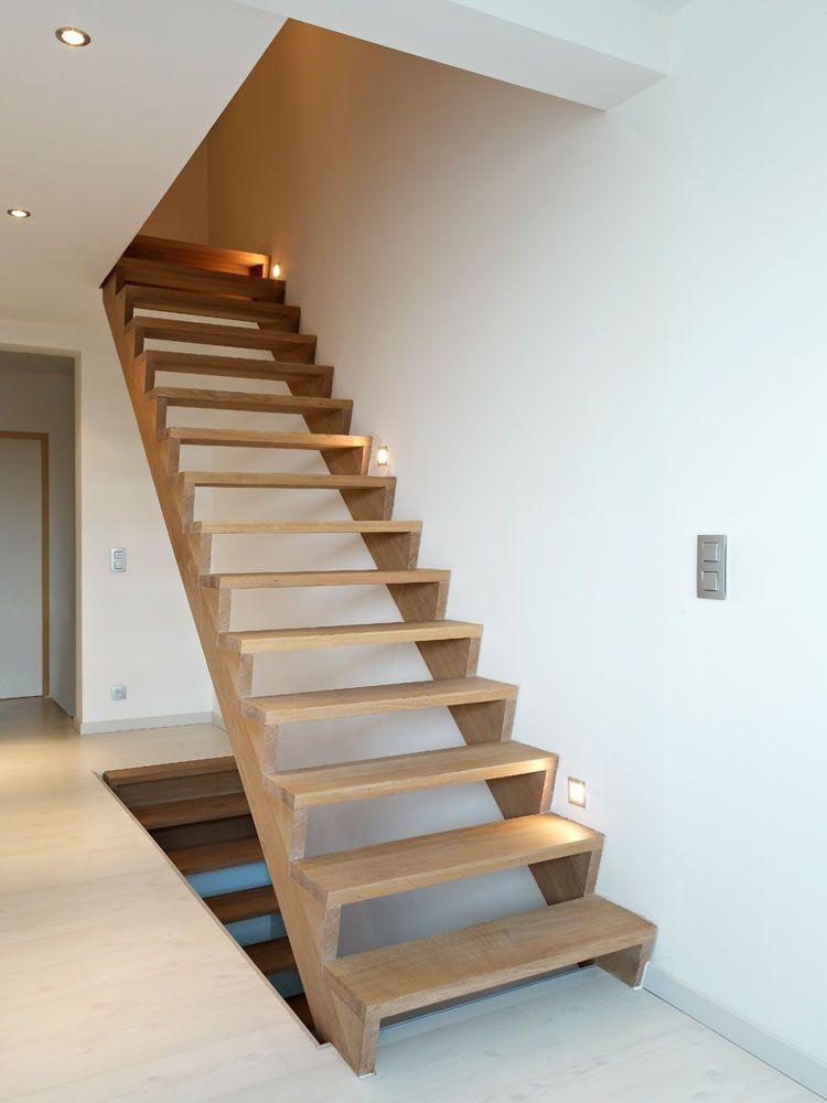 Goedkope, maar enorm kwalitatieve nieuwe trap uit hout © Trappen Demunster